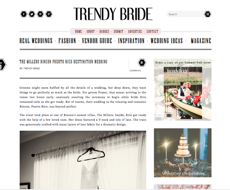 Trendy Bride Feature